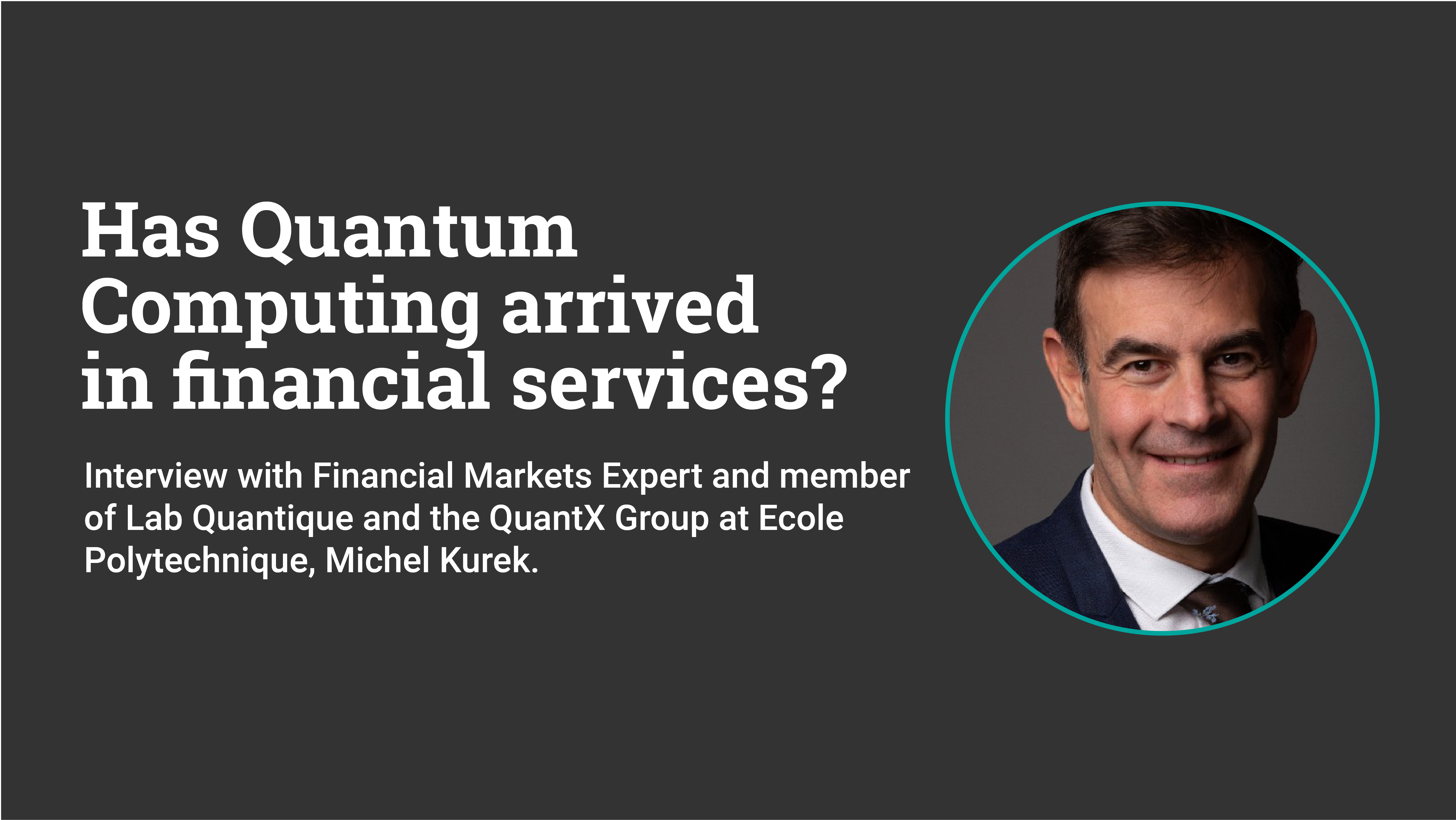 Has quantum computing arrived in financial markets?